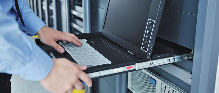 IT employee on computer